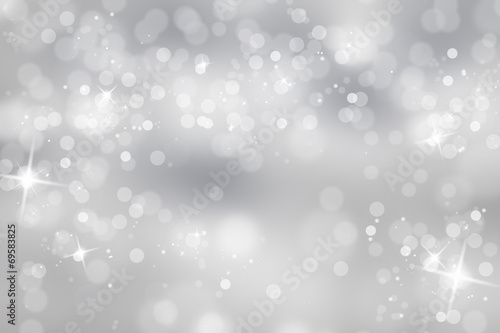 Winter light background with sparkle poster