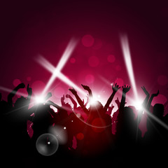 Party Red Background