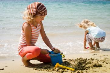 children at seaside