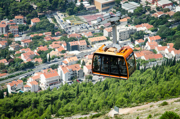 cableway over Dubrovnik city