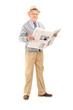 Senior gentleman holding a newspaper