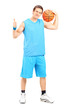 Basketball player giving a thumb up