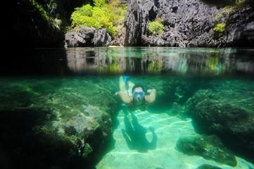 Diving in heaven