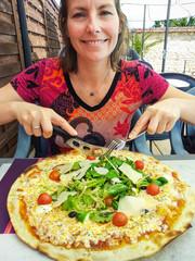 Pizza appétissante