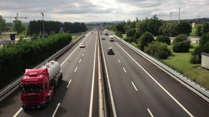Traffico regolare autostradale