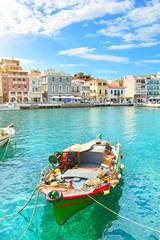 Boat. Agios Nikolaos. Crete,