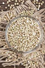 Buckwheat in a small bowl