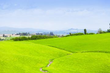 Green hills of Tuscany, Italy