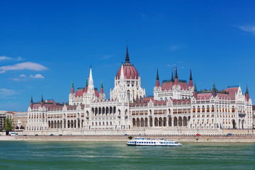 building of  Hungarian parliament in Budapest, Hungary
