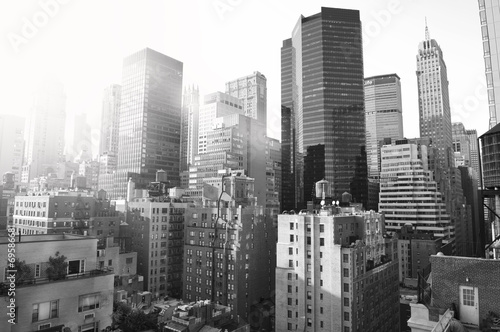 New York City, black and white
