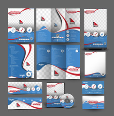 Automobile Center Stationery Set Template