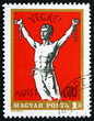 Postage stamp Hungary 1969 Man Breaking Chains, Revolutionary