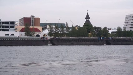 Boat on riverside