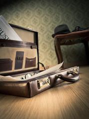 Vintage businessman briefcase