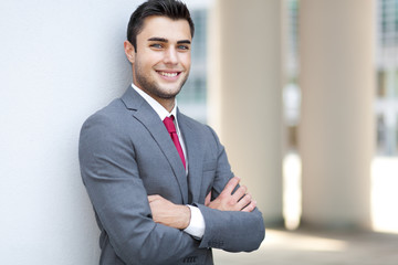 Handsome smiling businessman portrait
