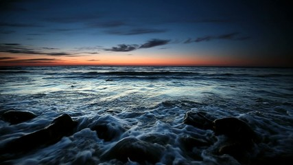Beautiful sunset over Baltic sea