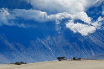 Himalayas mountains in Nubra desert