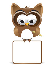 Owl with text box