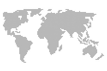 World map illustration isolated on clean background