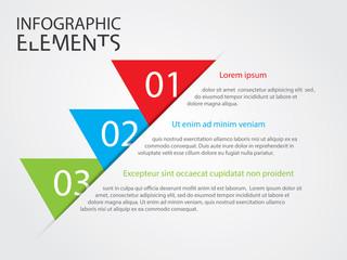 Illustration of Modern infographic chart
