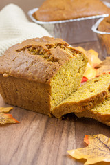 Pumpkin Bread on a countertop.