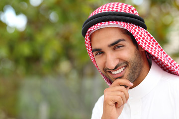 Portrait of a handsome arab saudi emirates man