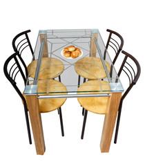 Isolated furniture set.