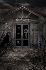 Haunted house in halloween time
