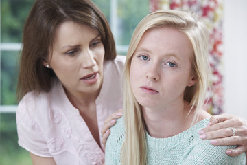 Mother Worried About Unhappy Teenage Daughter