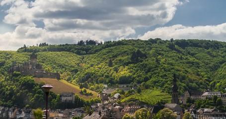 4K Timelapse, Cochem Castle, Mosel Area, Germany