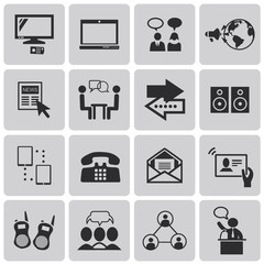 Media and Communication black icons set2. Vector Illustration ep