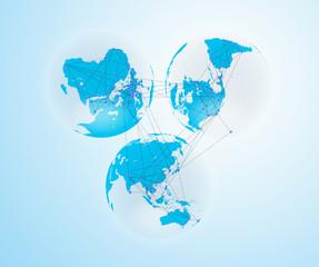 Background Global Network Image #JPG