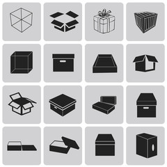 Vector Logistics shipping Box-pictogram black icons set2. Illust