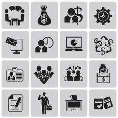 Business and management black icons set2. Vecter Illustration ep