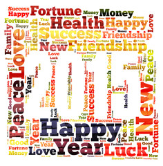 New Year word cloud