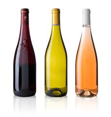 Bouteille de vin de Loire sans étiquette