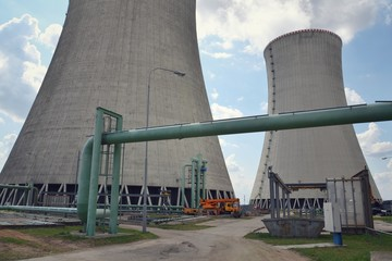 Cooling towers at nuclear power plant