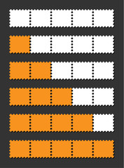 vector orange loading bar