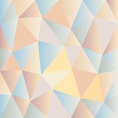 Background of pale colored triangles of different shapes