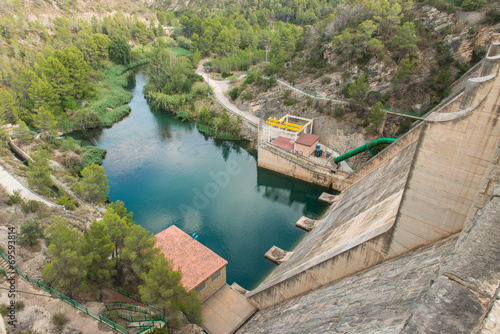 Staande foto Dam Presa de Loriguilla. Valencia. España