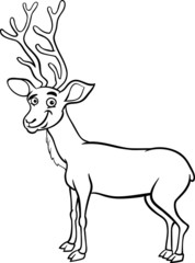 wapiti deer cartoon coloring page