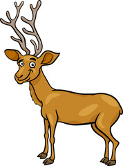 wapiti deer cartoon illustration