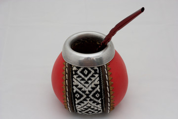 Mate set: bombilla and kolebasa