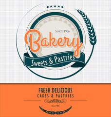 Vintage bakery background