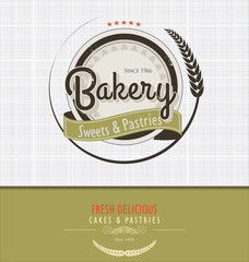Vintage bakery background