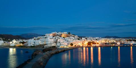 Le village de chora à Naxos