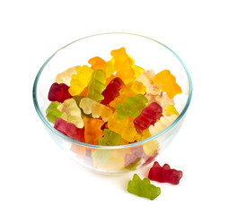 gummy bears in a bowl