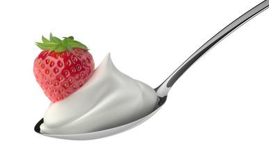 Erdbeere auf Sahne 2