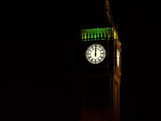 Midnight with Big Ben. New Year background and copy space