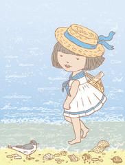 Walks at the sea